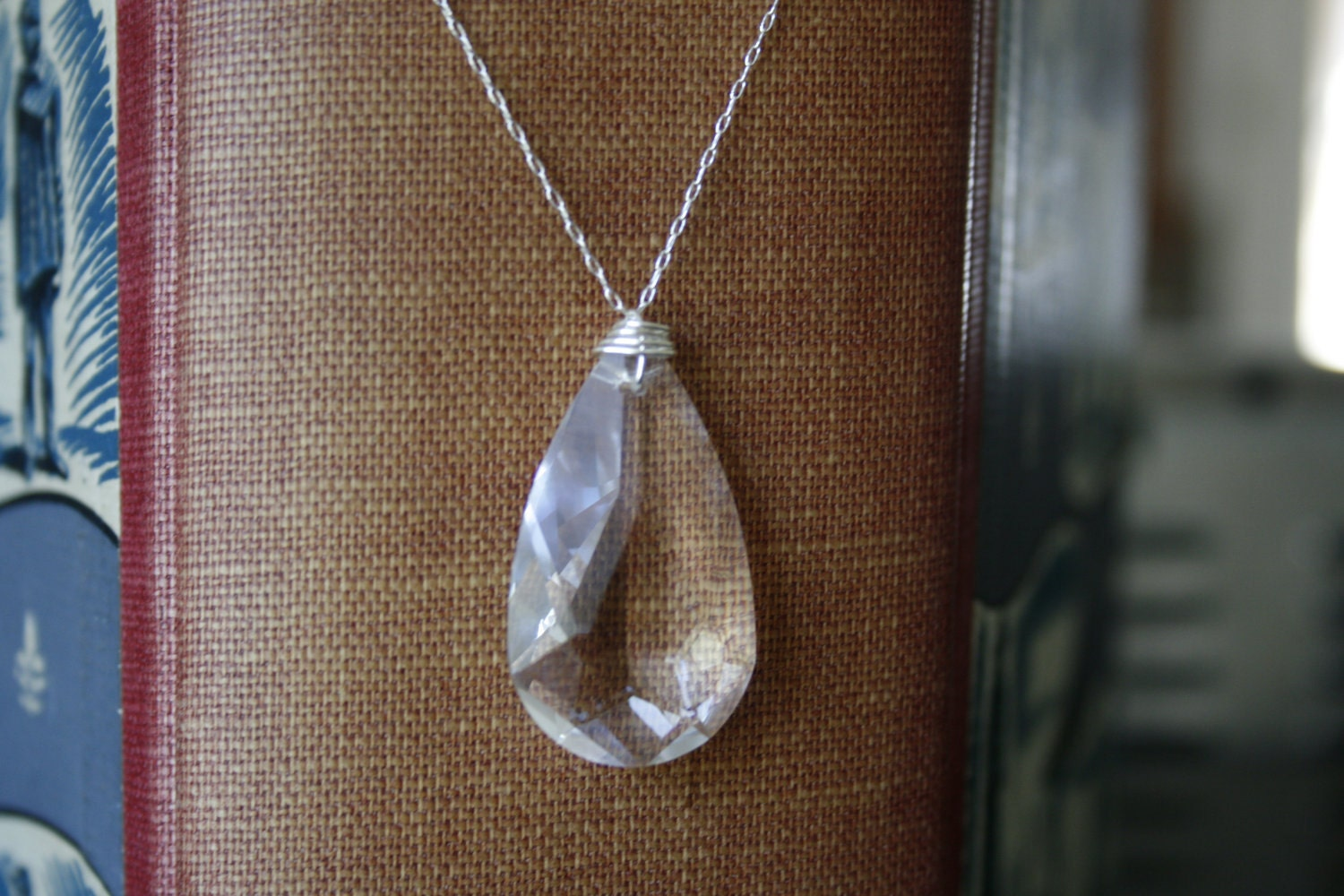 Large Crystal Teardrop Necklace, Swarovski