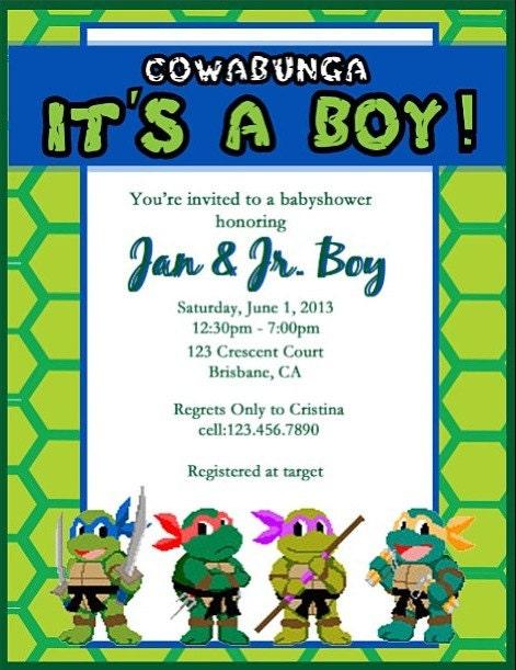 teenage mutant ninja turtle baby shower by jantelordonadesigns