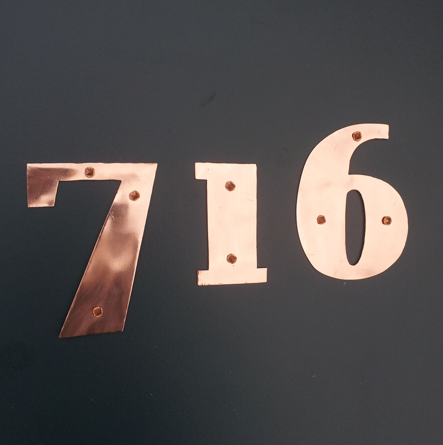 art deco house numbers handmade in uk with by davidmeddingsdesign. Black Bedroom Furniture Sets. Home Design Ideas