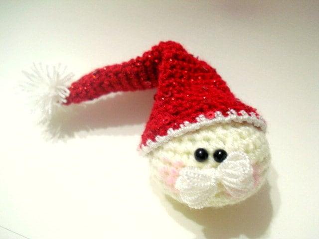 Tiny Crochet Doll Patterns : Instant Download Crochet Pattern Amigurumi Santa by AllSoCute