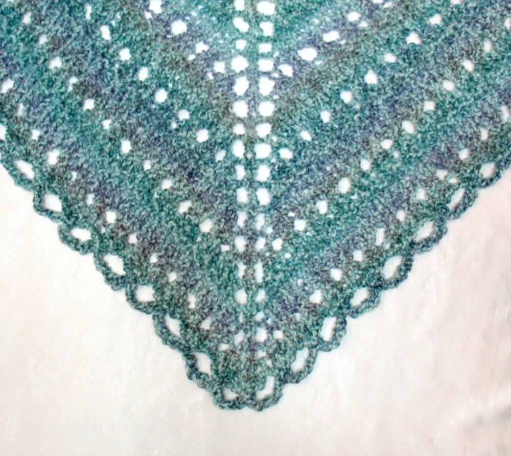 Wrap Shawl Knit Prayer Shawl Triangle Hand by SticksNStonesGifts