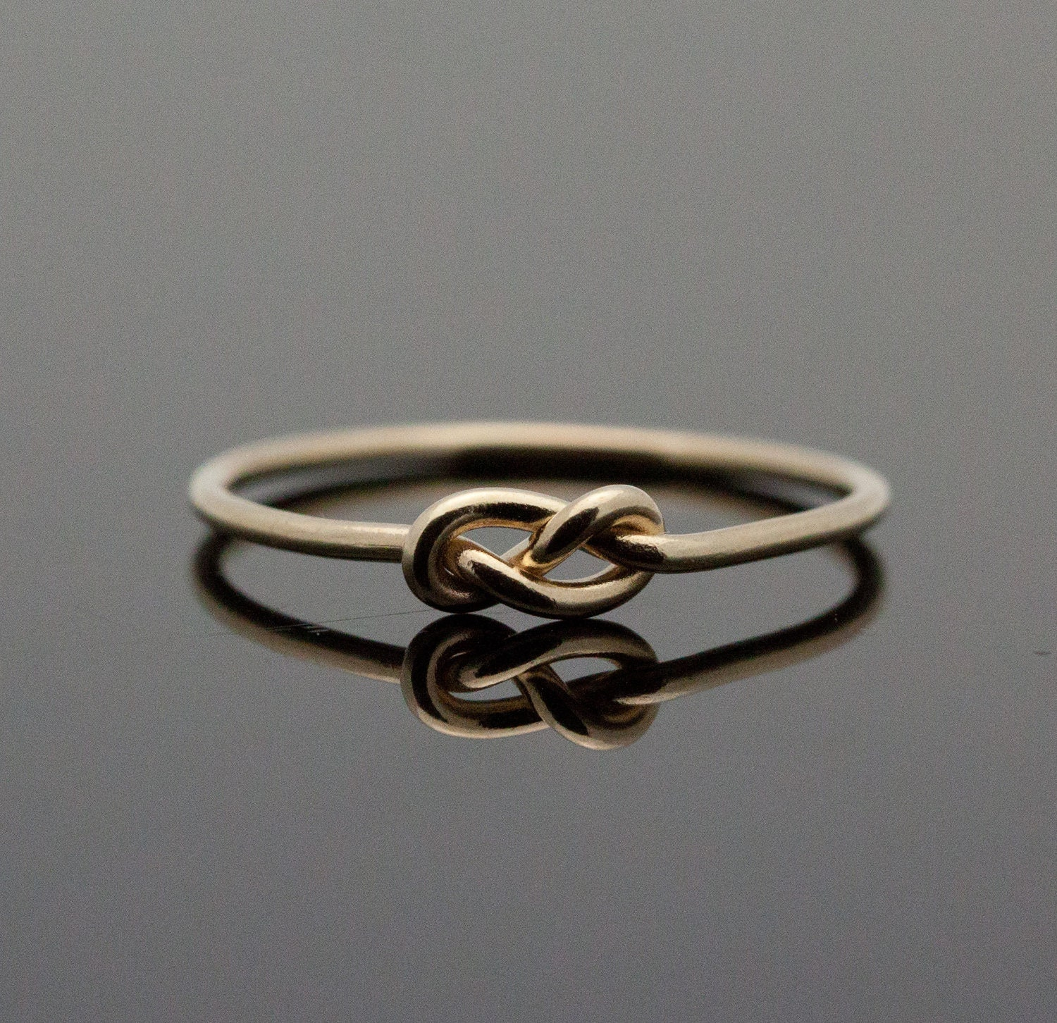 gold infinity ring solid 14k gold knot ring by