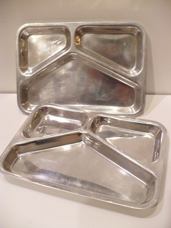 items similar to aluminum tv dinner trays on etsy. Black Bedroom Furniture Sets. Home Design Ideas
