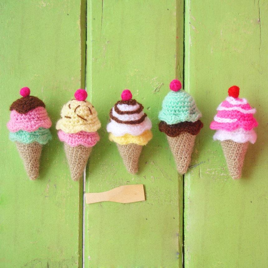 Amigurumi Lalaloopsy Doll Pattern : Crochet Toy Pattern Ice Cream amigurumi PDF cute kawaii by ...