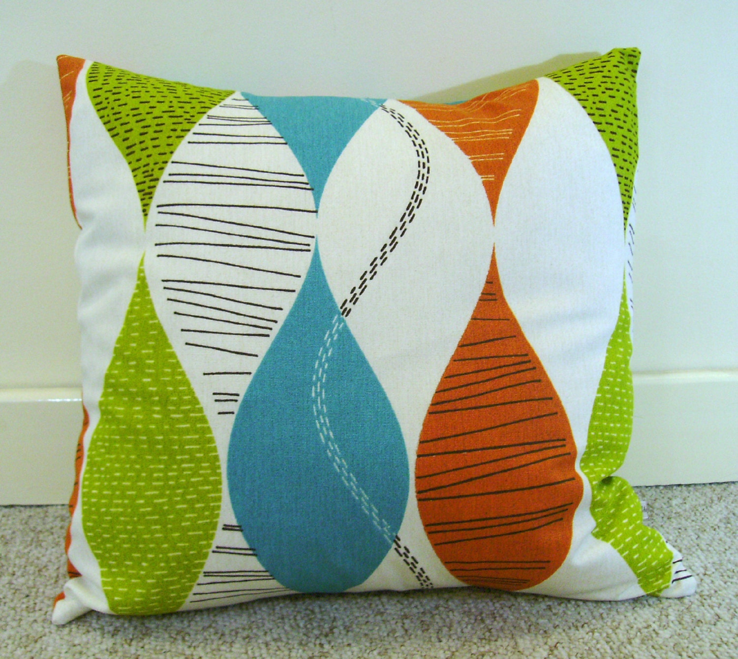 Modern Pillows Etsy : Modern pillow cover retro pillow decorative pillows by chezlele
