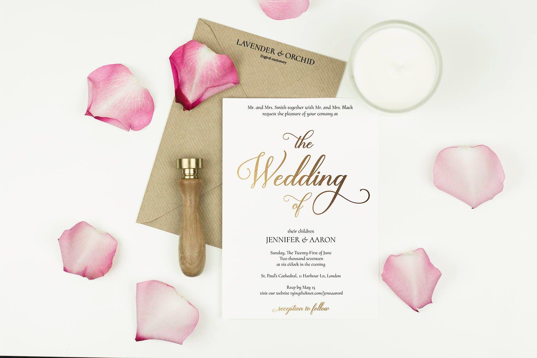 Wedding Invitation Template Gold Wedding Invitations Printable Invitation Digital Download Beautiful Elegant Design Instant PDF