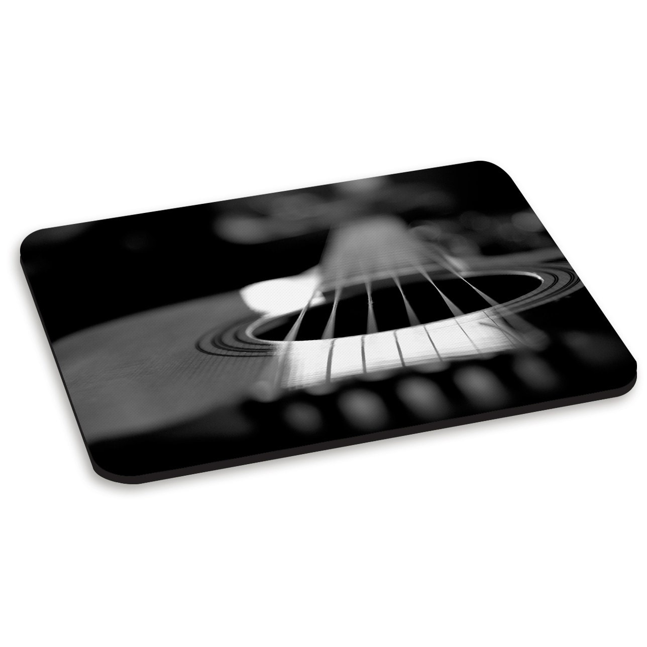 Acoustic Guitar Black and White PC Computer Mouse Mat Pad