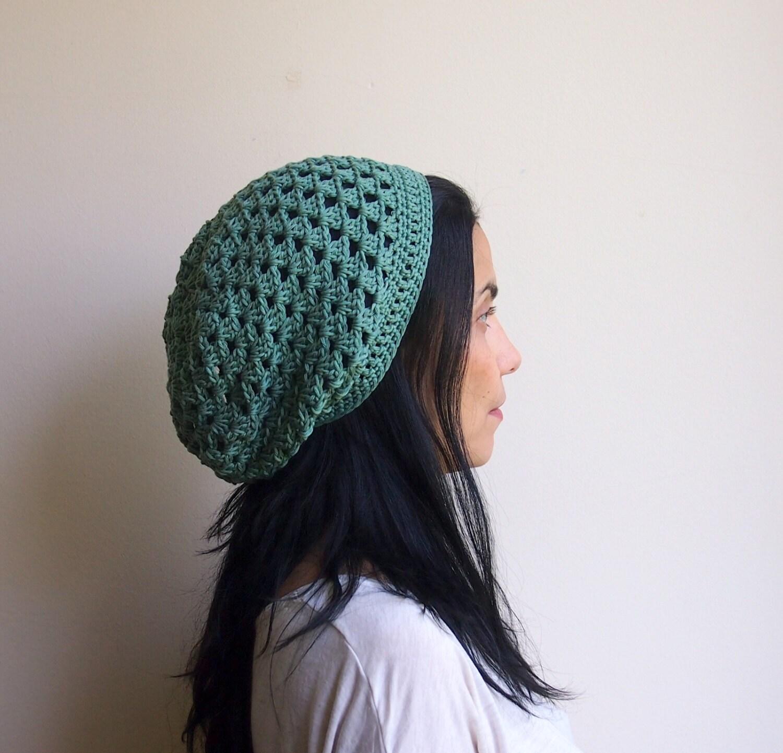 Summer Beanie Hat Crochet Pattern : PDF crochet pattern slouchy granny cluster hat by Accessorise
