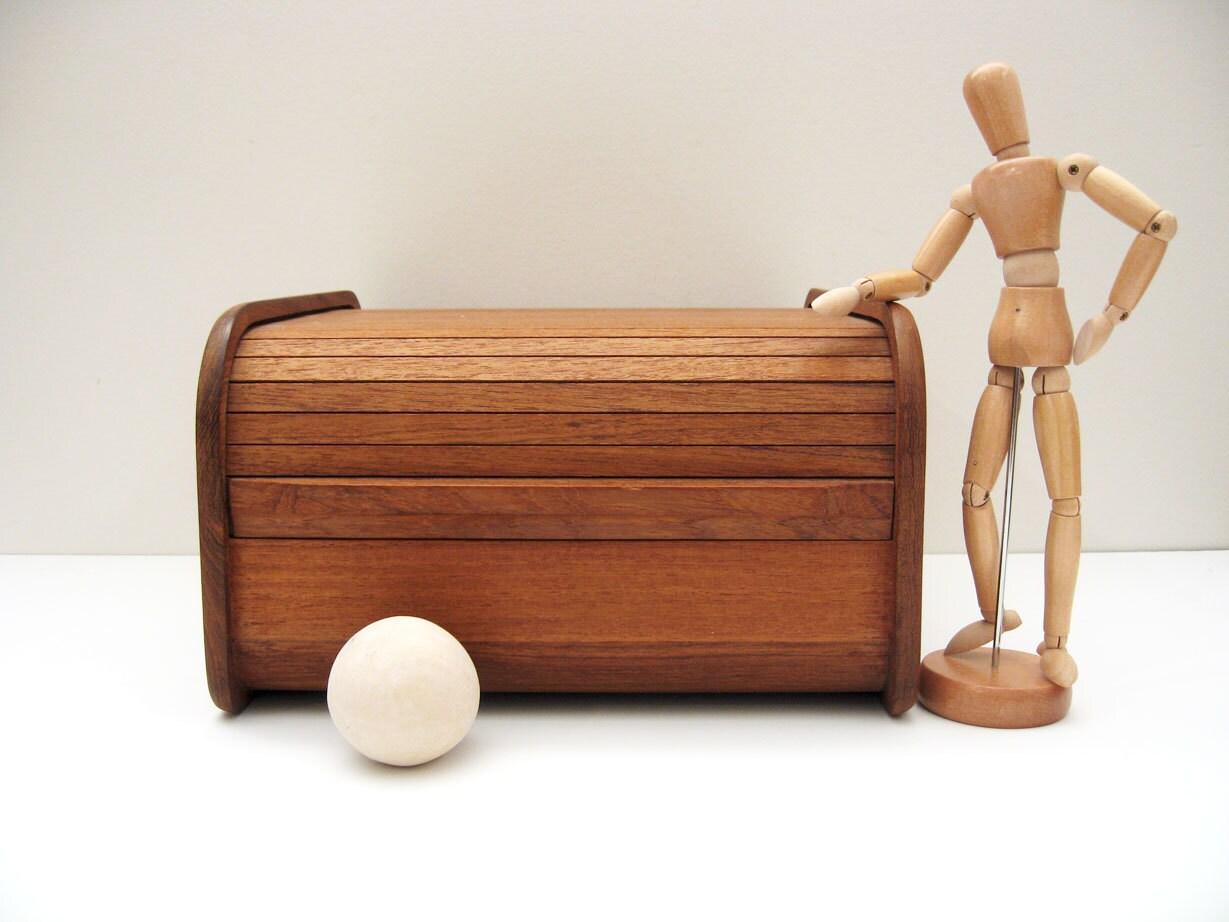 Teak Storage Box Desk Organizer Kalmar Designs By
