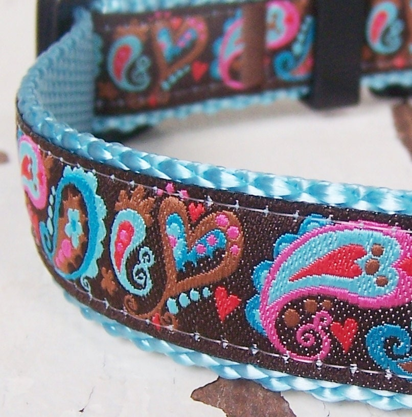 Paisley Dog Collar / Adjustable Pet Accessory