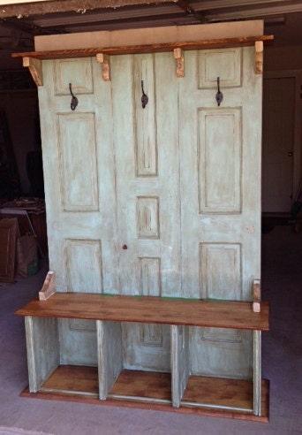 Items Similar To Hall Tree Coat Rack Bench Custom