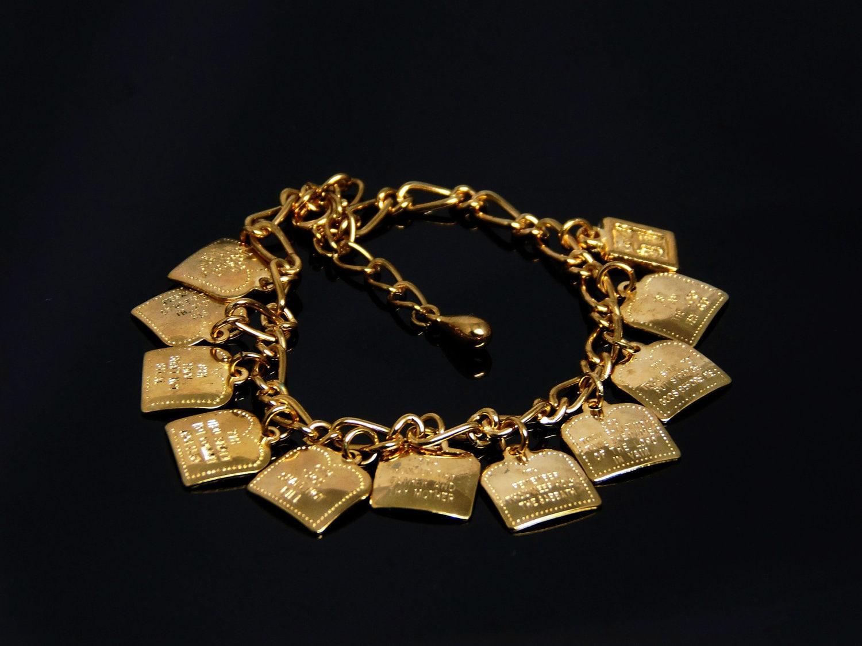 vintage ten commandments charm bracelet in by