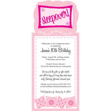Invitations For Sleepover Party with perfect invitation template