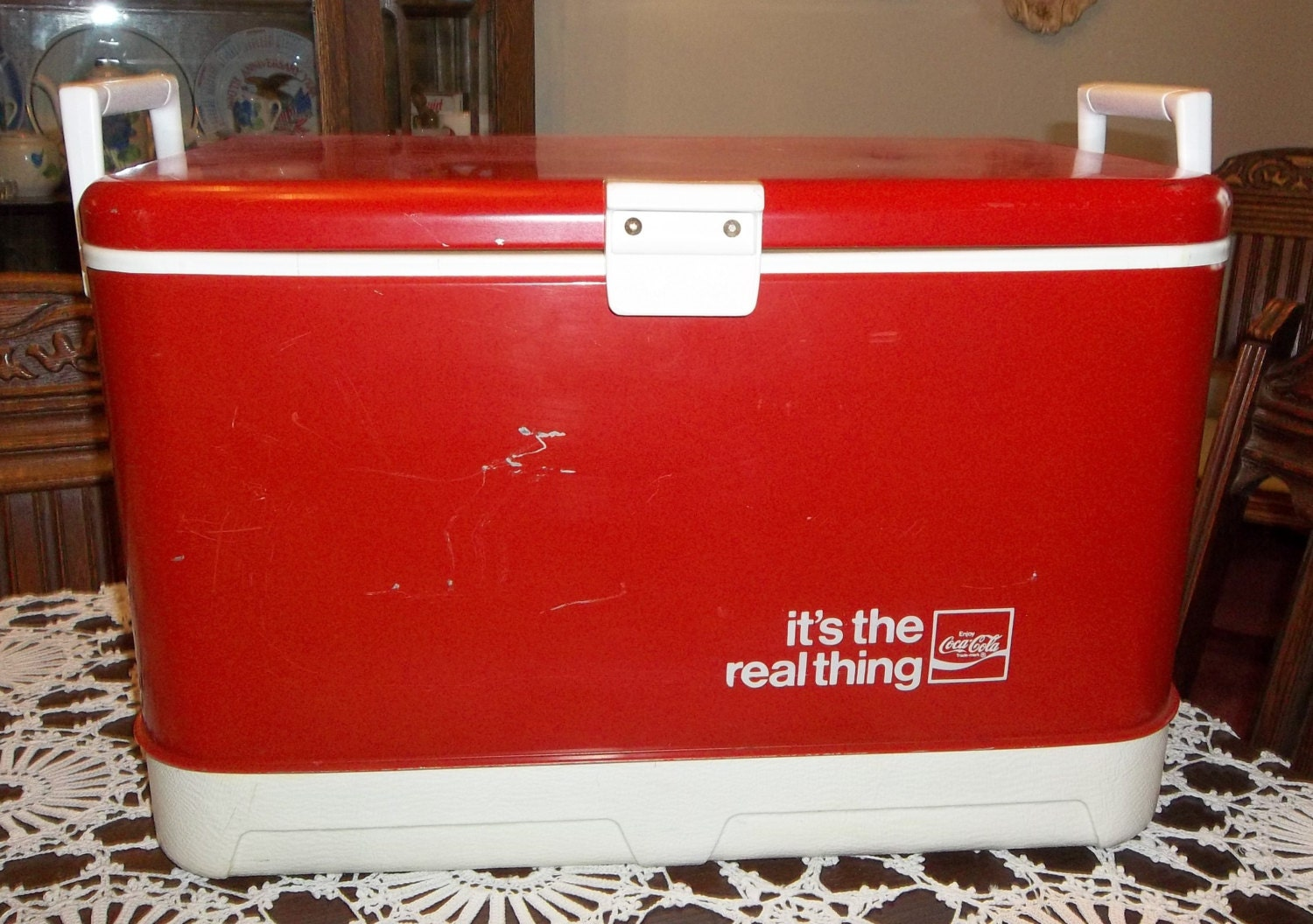 Vintage 1969 Thermos Coca Cola Cooler It S The By