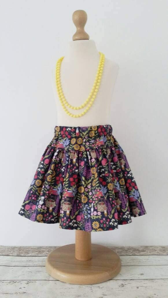 Flower skirt twirl skirt girls clothing spring garden sunflower twirl skirt kids clothing uk