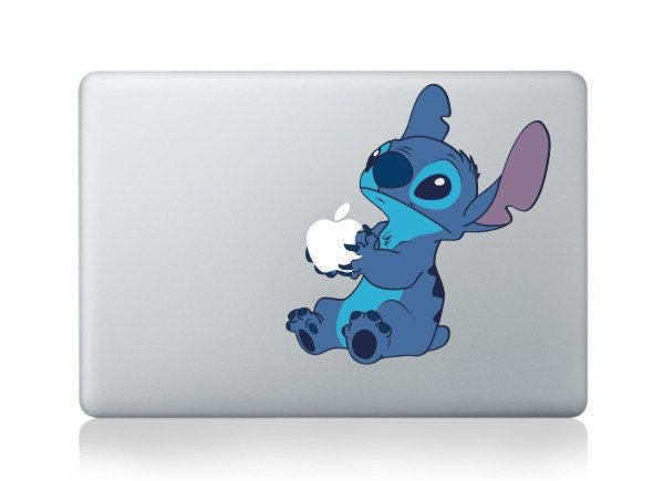 Macbook 13 inch decal sticker Stitch happy Apple art for Apple Laptop