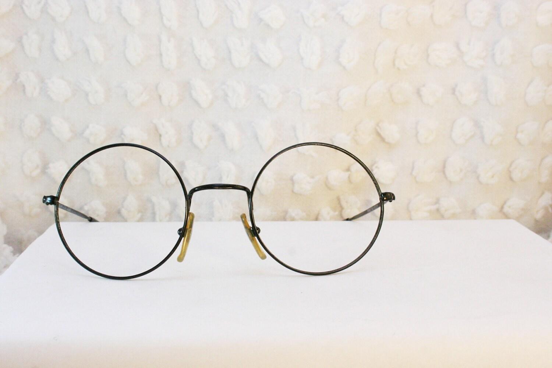 Round Black 1980s Wire Rim Eyeglasses Minimal by DIAeyewear