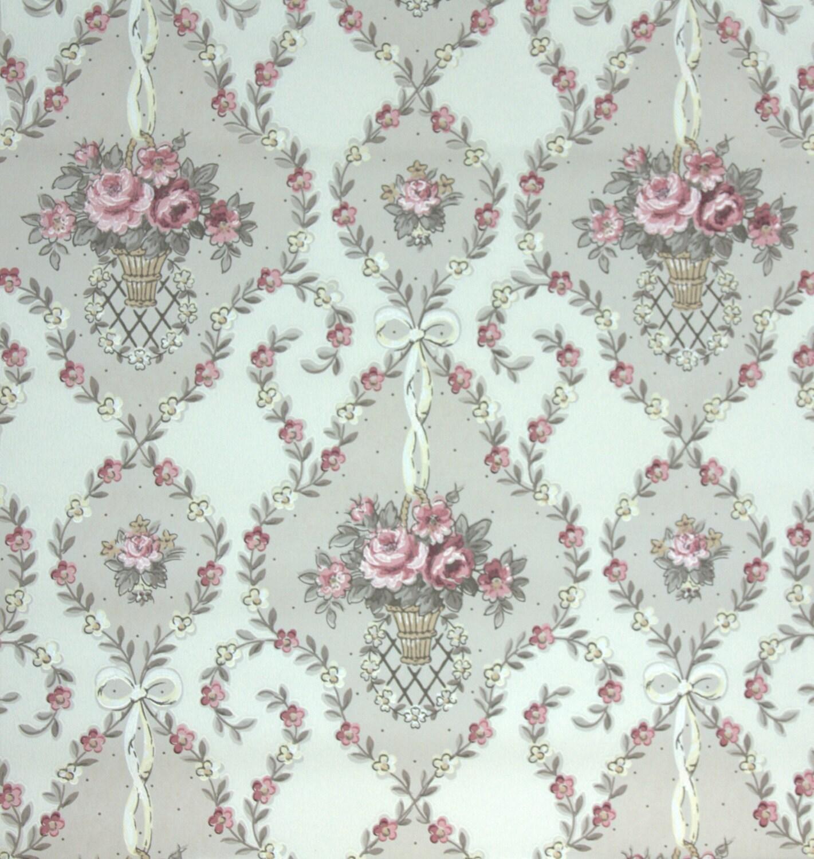 1940 39 s vintage wallpaper floral wallpaper by hannahstreasures. Black Bedroom Furniture Sets. Home Design Ideas