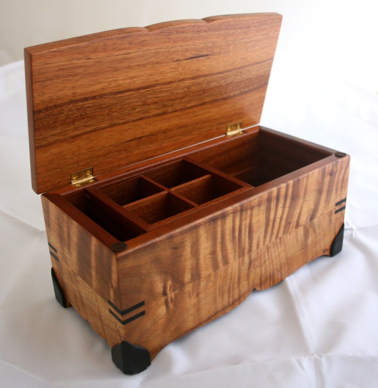 Items similar to Koa Wood Jewelry Box on Etsy