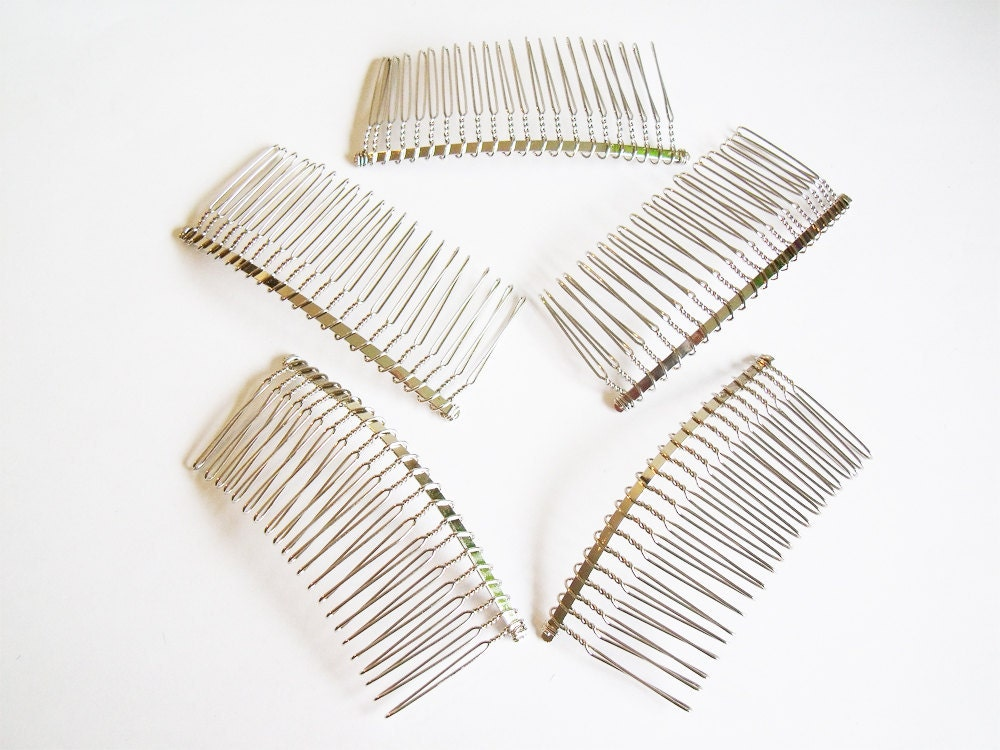 Items similar to metal hair combs 5 85mm large metal for Metal hair combs for crafts