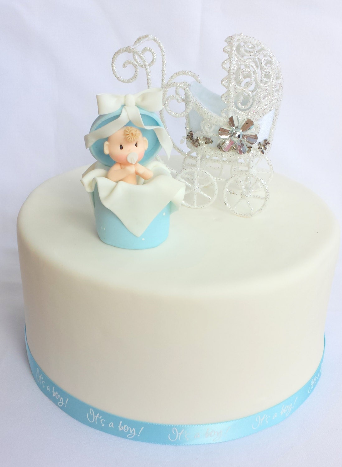 baby shower cake topper baby boy cake topper