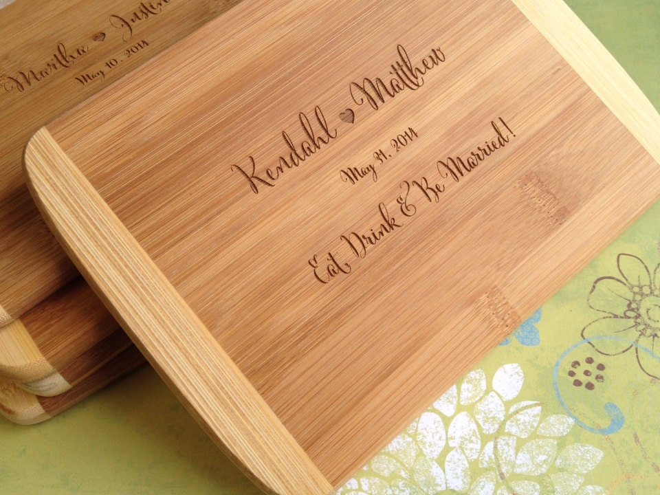 Unique Wedding Gifts Wood : Wood Cutting Board, Bridal Shower Gift, Wedding Present, Unique ...