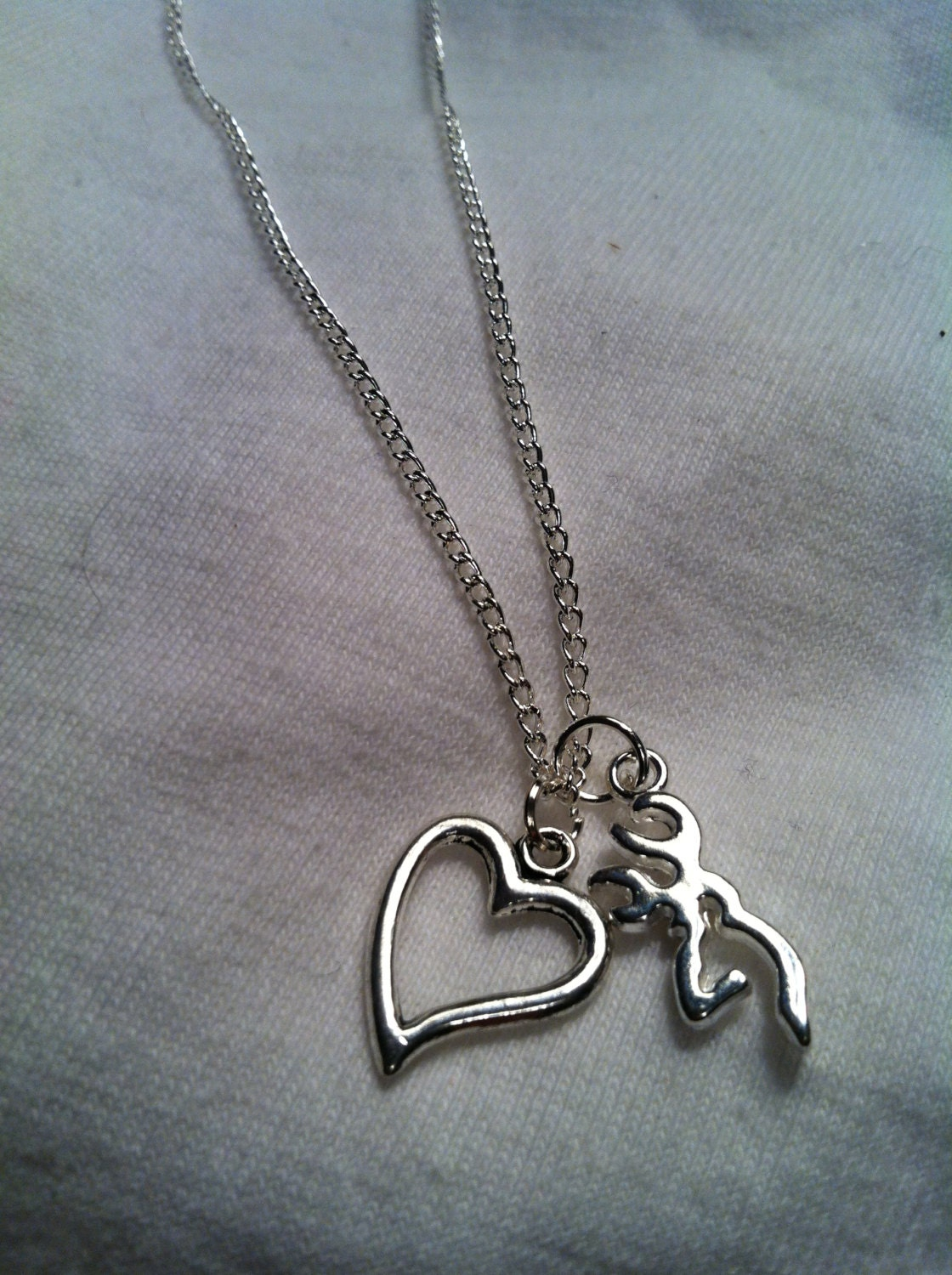 silver necklace browning necklace accessory by