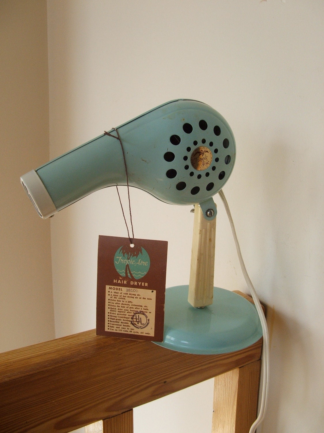 Vintage Tropic Aire Hair Dryer In Original By