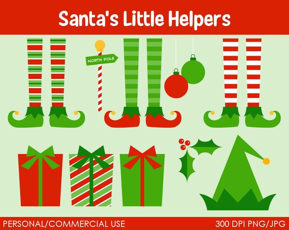 Items Similar To Santa S Little Helpers Elf Clipart
