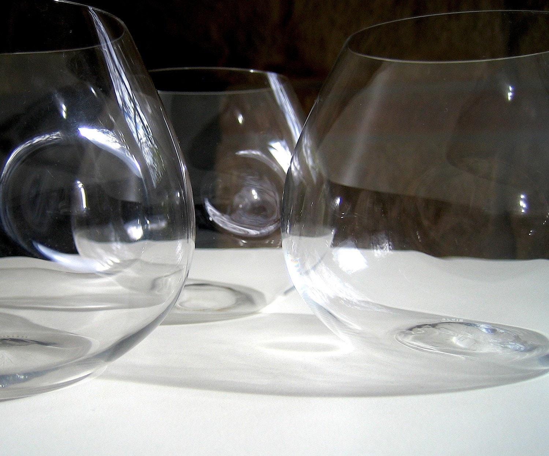 Tiffany Elsa Peretti Brandy Thumbprint Snifters By Linea72