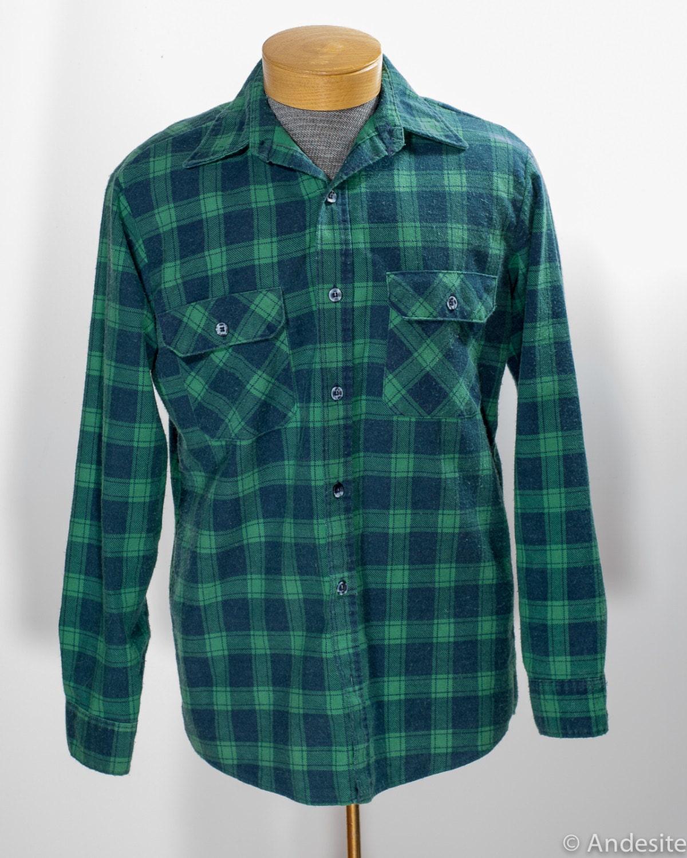 Vintage Sears Fieldmaster Flannel Shirt Mens By Pueblovintage