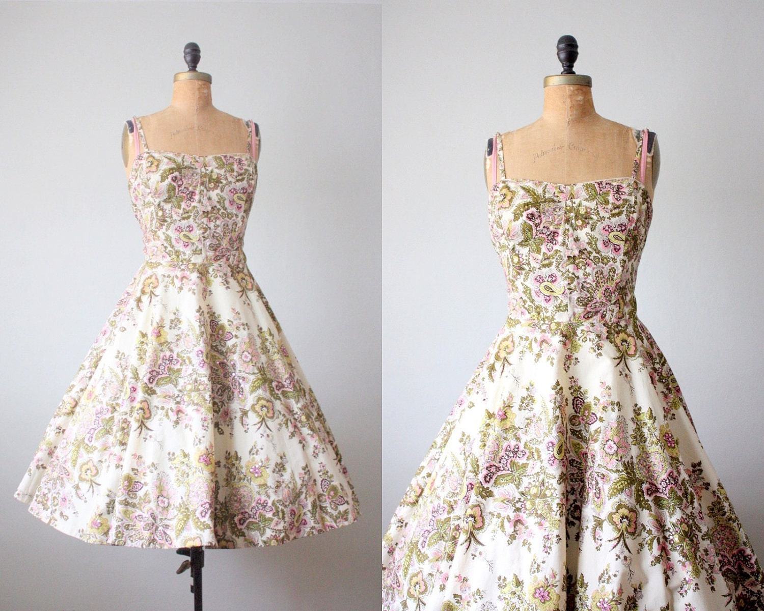 vintage 1950 39 s spring garden party dress by 1919vintage on