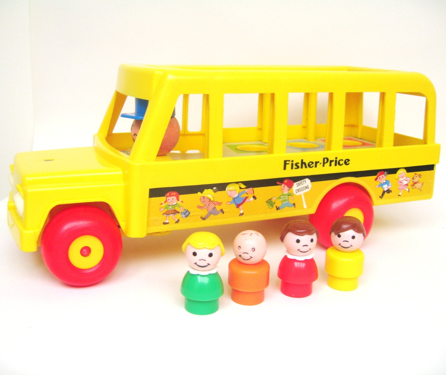 Vintage Fisher Price School Bus - toysofthepast