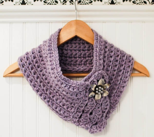 Crochet Pattern - Pretty Cowl / Scarf / Scarflette - Instant Download ...