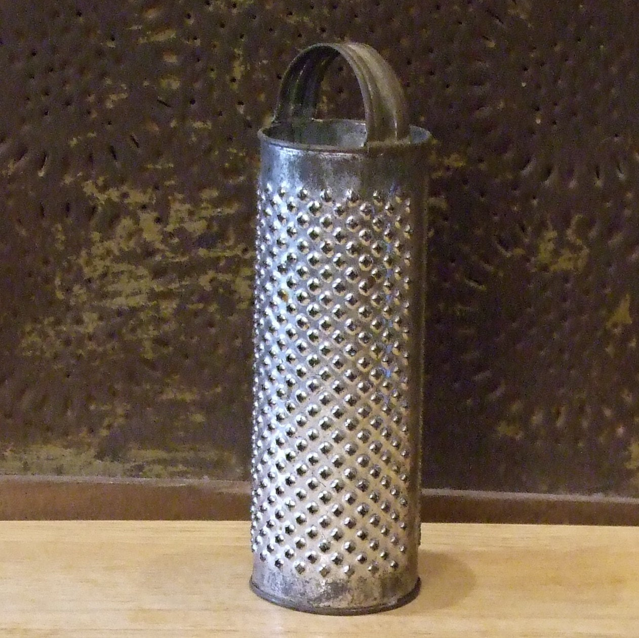 Primitive Antique Round Kitchen GRATER By EggCrateVintage