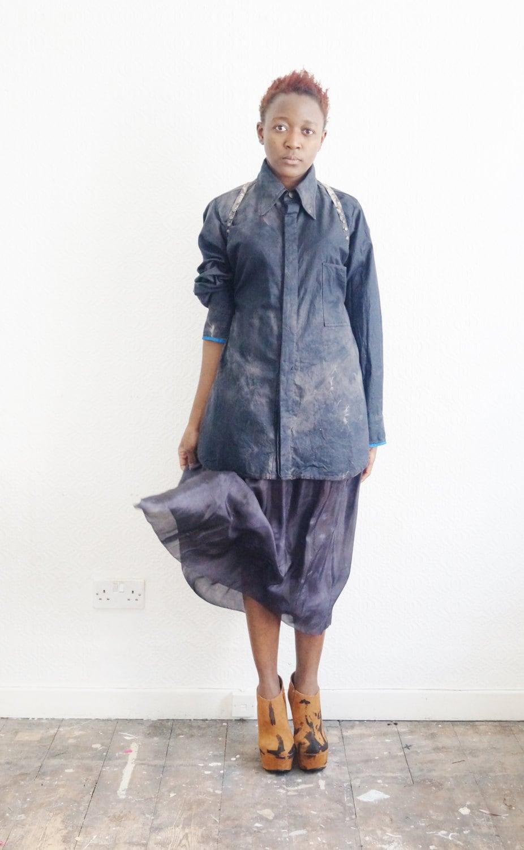 Silk skirt  plain colour  boho skirt festival clothing bohemian skirt  black  beach skirt