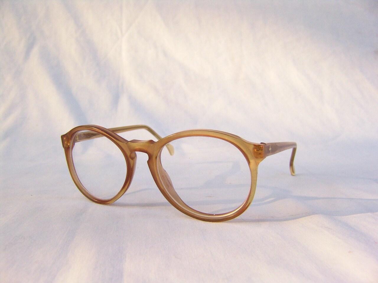 vintage preppy eyeglass frames clear by therustychicken