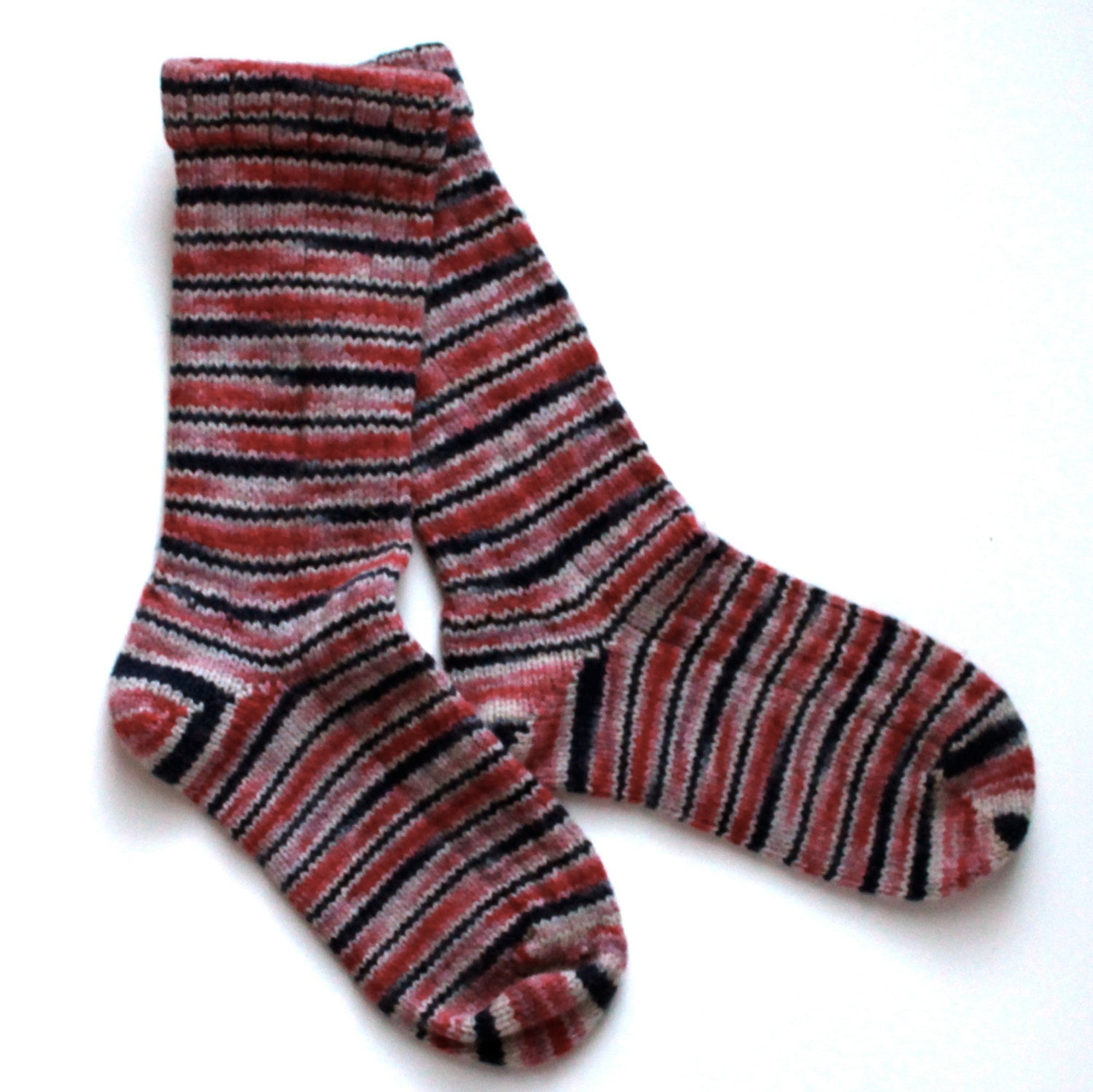 Handmade Warm Wool Socks 715 -- Size Women 4-6 - ShadySideFarm