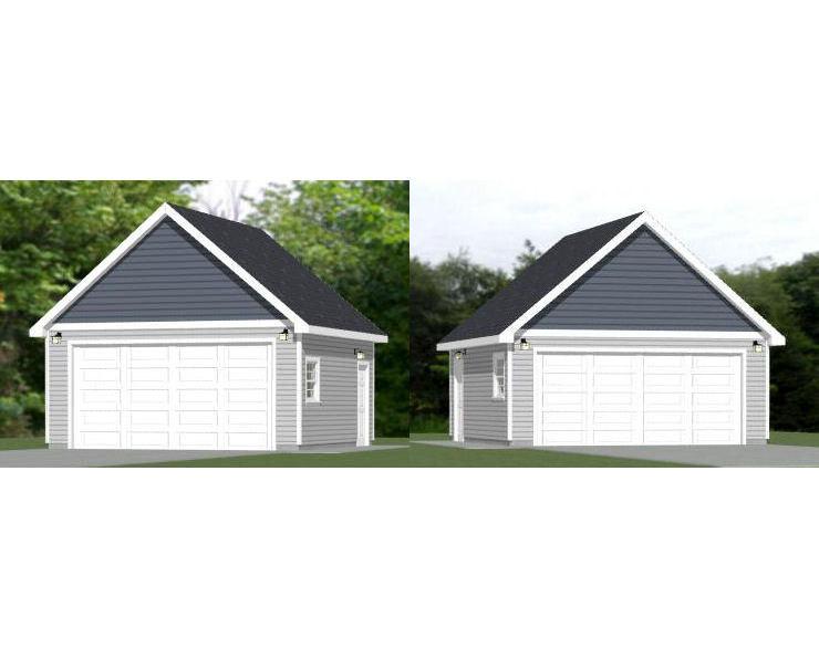 20x20 2 car garages pdf floor plans 400 by excellentfloorplans for 20x20 garage