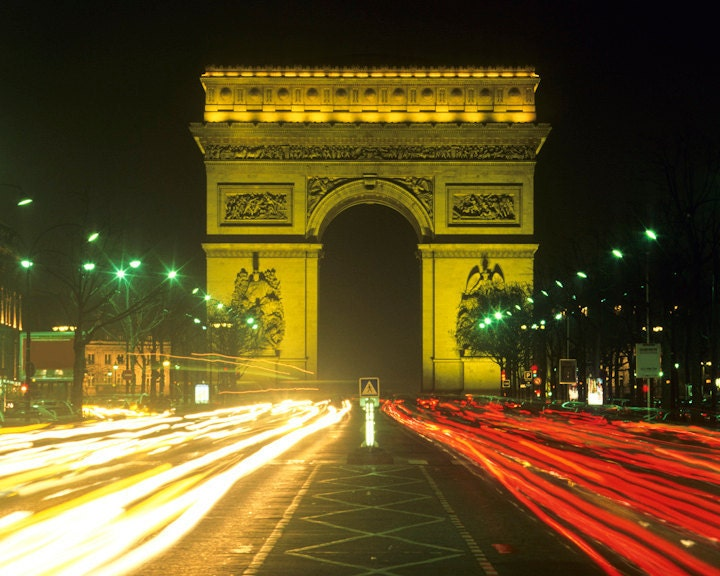 Champs elysees photo arc de triomphe paris by for Arc de triomphe wall mural