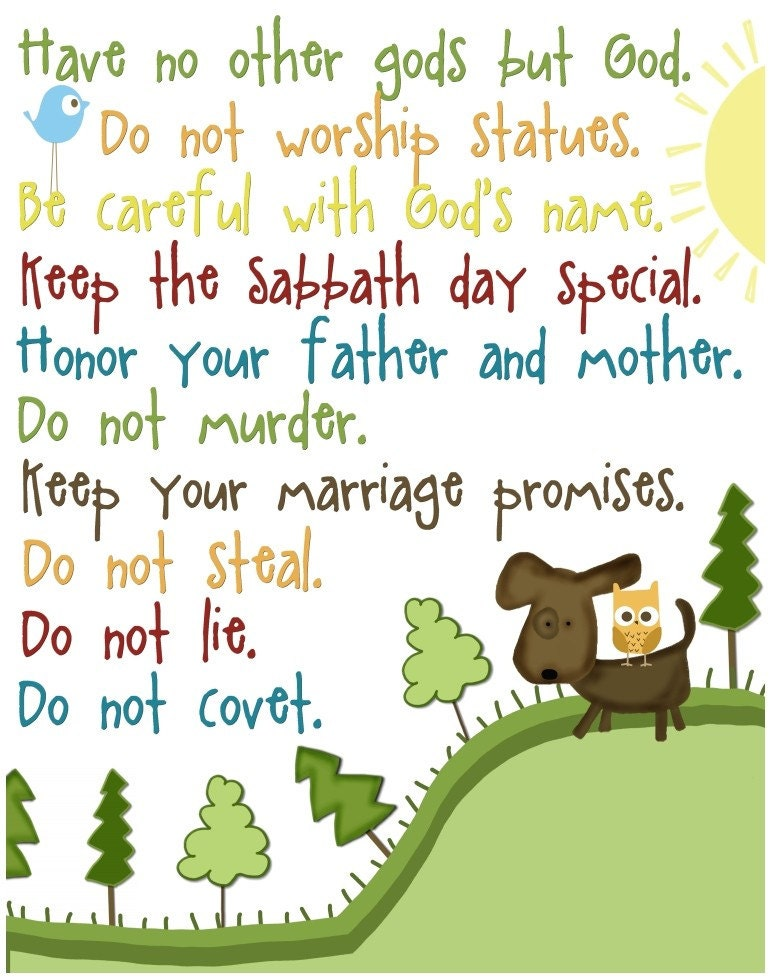 Resource image with regard to ten commandments printable