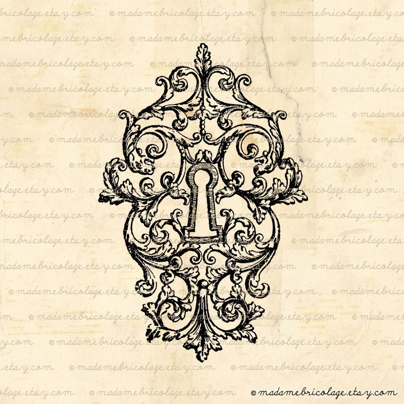 Victorian Lock  Possibly Mixed With My Love Of Victorian KeysAntique Keyhole Tattoo