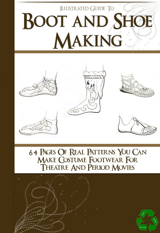 64 Rare SHOE and BOOT PATTERNS ill ustrated Book How To Do Boot and