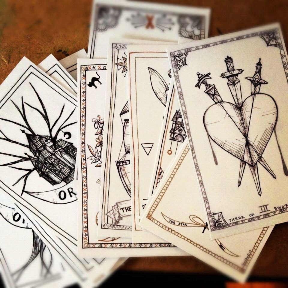 Emkat Creations Tarot Wednesday Self Published Decks