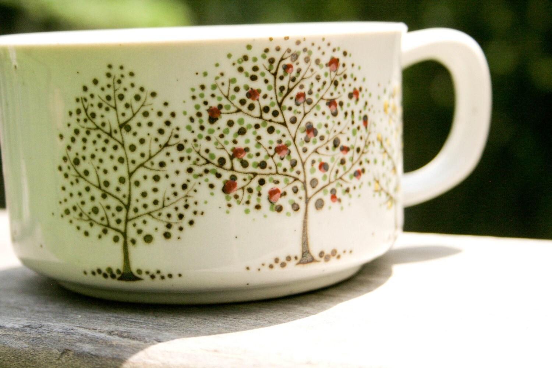 vintage tree mug