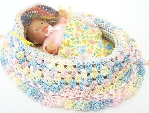 Peter Rabbit Amigurumi Pattern : nursery colors hand crocheted baby doll church by ...
