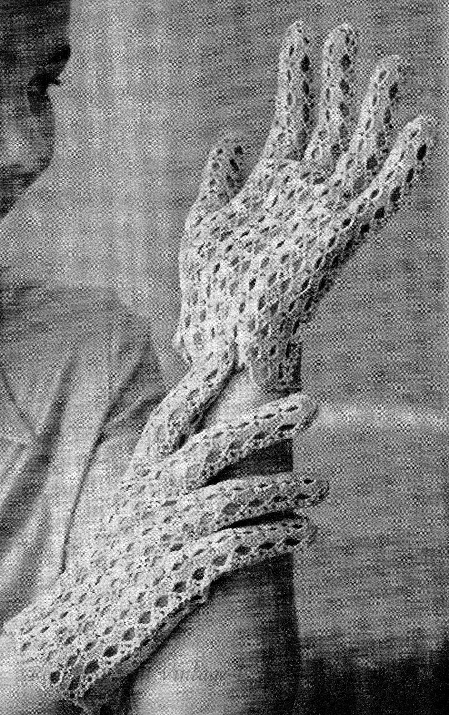 Vintage Crochet Pattern pdf Summer Gloves in by ...