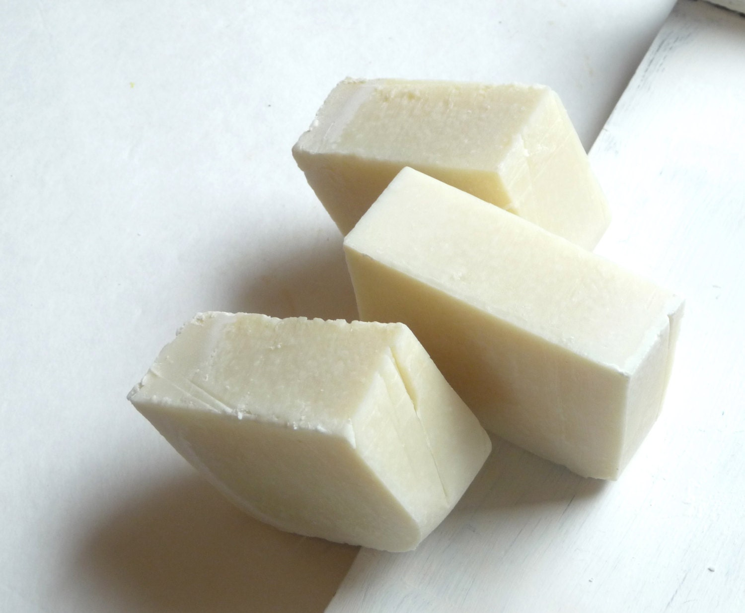 Fragrance Free Plain Soap, Cold Process Olive Oil and Coconut Oil Soap - Mylana