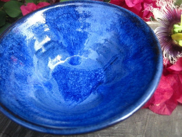 Periwinkle and blue Salsa Dish
