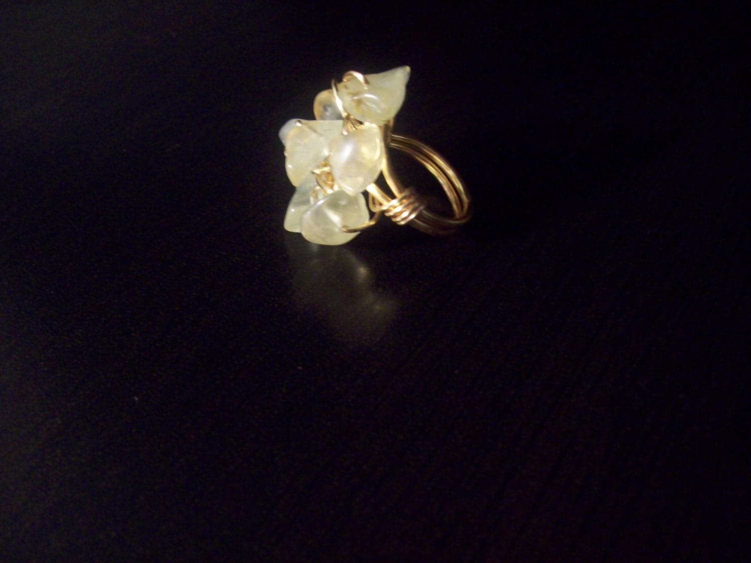 SALE Yellow Rock Cluster Ring